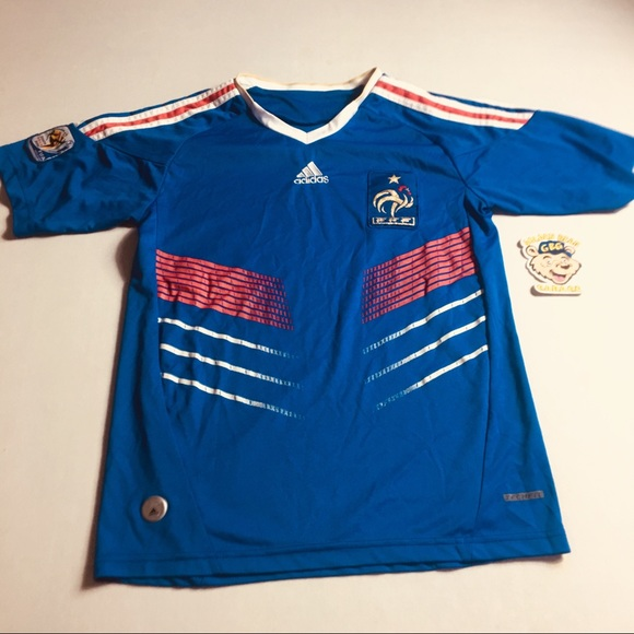 new arrival 029da 95d20 Adidas 2010 France World Cup Soccer Jersey